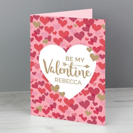 Valentines Day Confetti Hearts Card