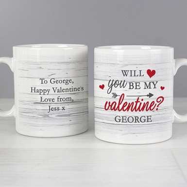 Personalised Be My Valentine Mug Delivery to UK