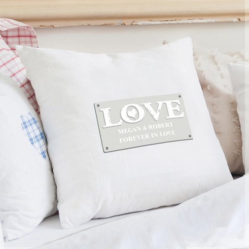 Personalised Love Cushion Cover delivery to UK