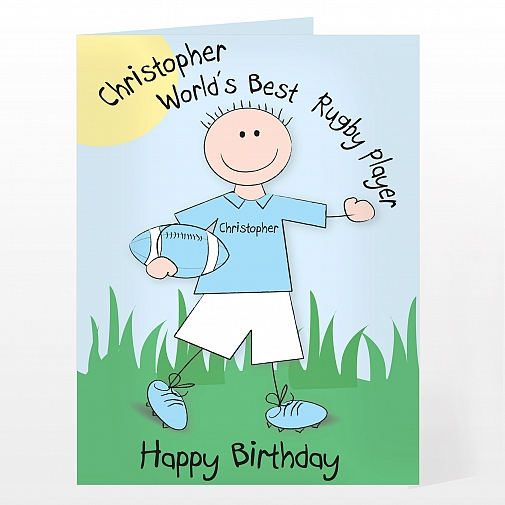 Personalised Worlds Best Rugby Player Card