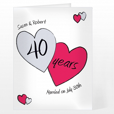 Personalised Perfect Love Ruby Card
