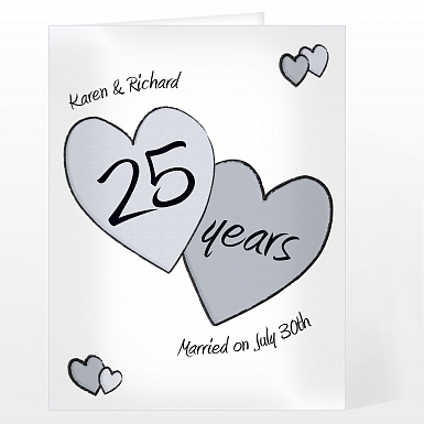 Personalised Perfect Love Silver Card