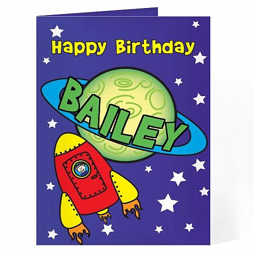 Personalised Space Card