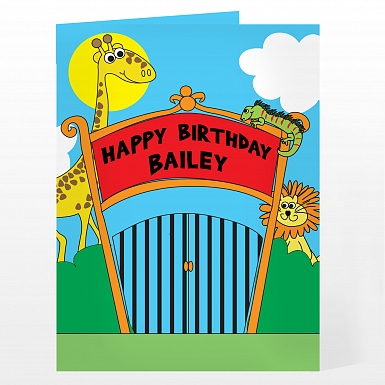 Personalised Zoo Card