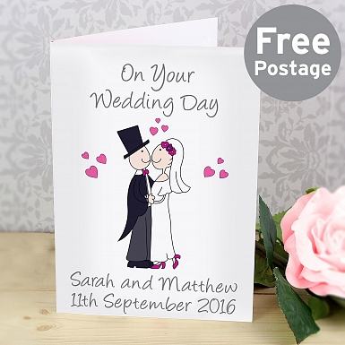Personalised Cartoon Couple Card