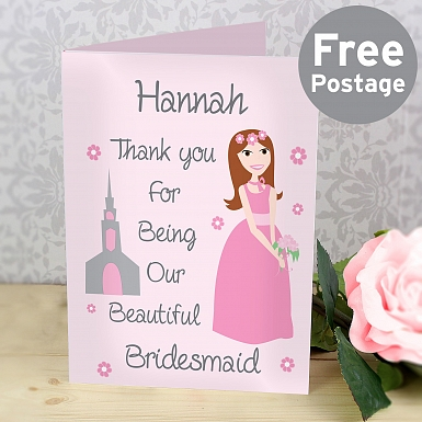 Personalised Fabulous Bridesmaid Card