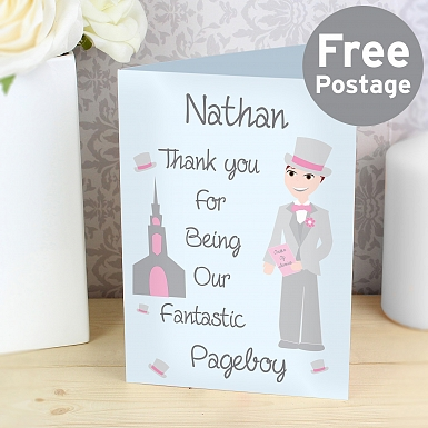 Personalised Fabulous Pageboy Card