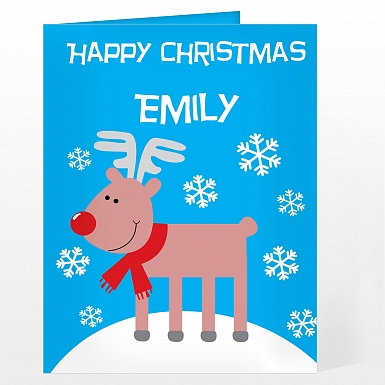 Personalised Rudolph Card