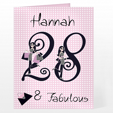 Personalised Fabulous Numbers Card