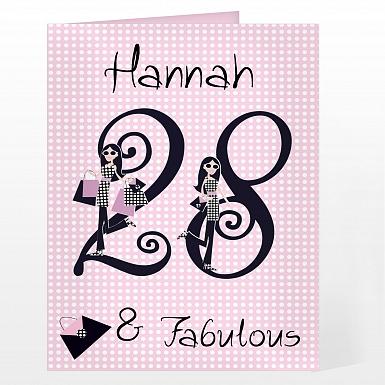 Personalised Fabulous Numbers Card