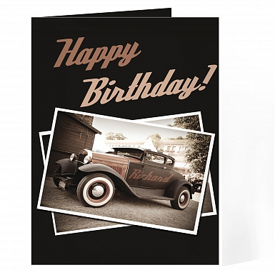Personalised Classic Car Card