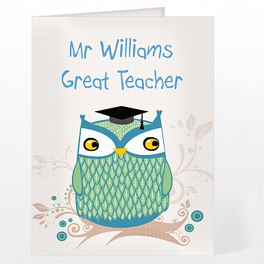 Personalised Mr Owl Card