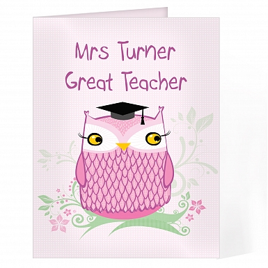 Personalised Miss Owl Card