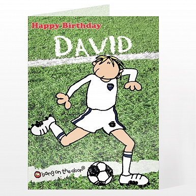 Personalised Bang On The Door Footballer Card