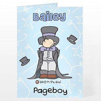 Personalised Bang On The Door Wedding Boy Card