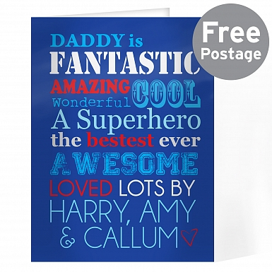 Personalised He Is...Card