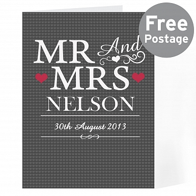 Personalised Mr & Mrs Card