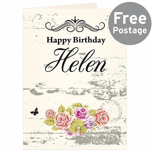 Personalised Shabby chick Card