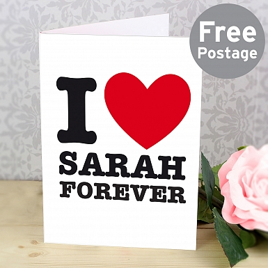 Personalised I HEART Card