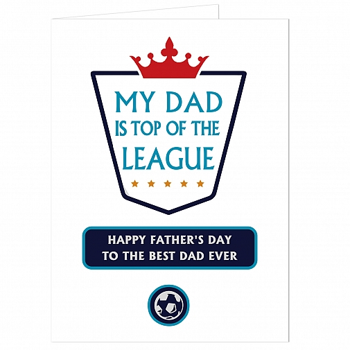 Personalised Top of the League Card