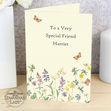 Personalised Country Diary Wild Flowers Card