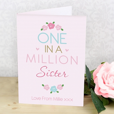 Personalised One in a Million Card delivery to UK [United Kingdom]