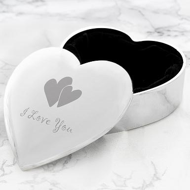 I Love You Heart Trinket Box