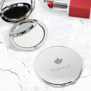 Bridesmaid Round Compact Mirror