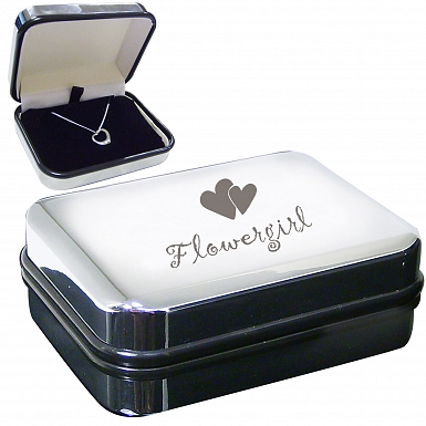 Flower Girl Heart Necklace Box
