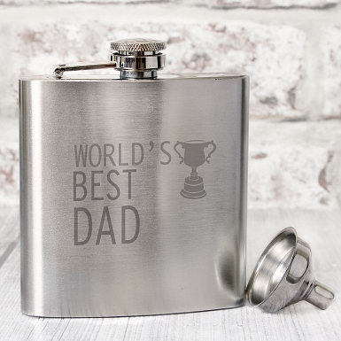 Worlds Best Dad Hip Flask