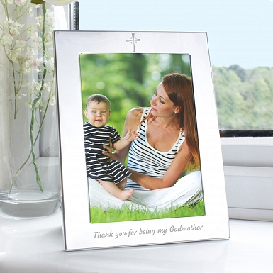 Silver 5x7 Godmother Photo Frame