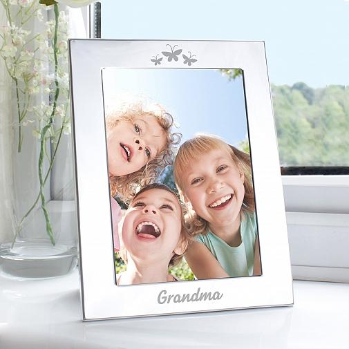 Silver 5x7 Grandma Photo Frame