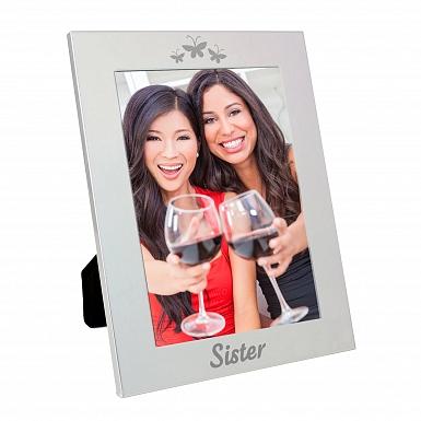 Silver 5x7 Sister Photo Frame