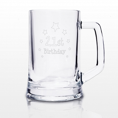 Personalised 21st Birthday Stern Tankard