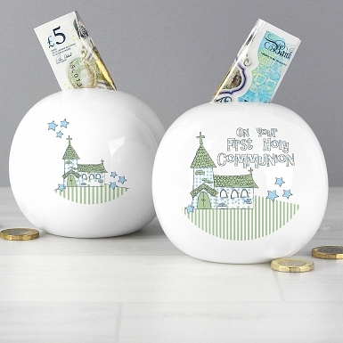 Blue First Holy Communion Church Money Box