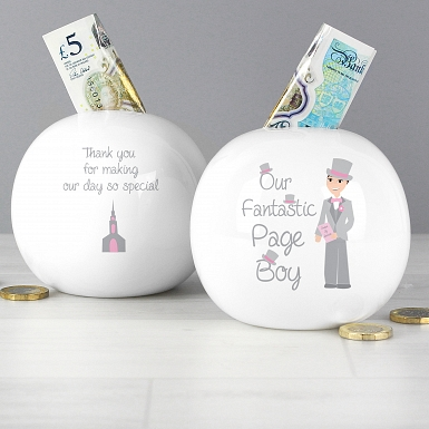 Fabulous Page Boy Money Box