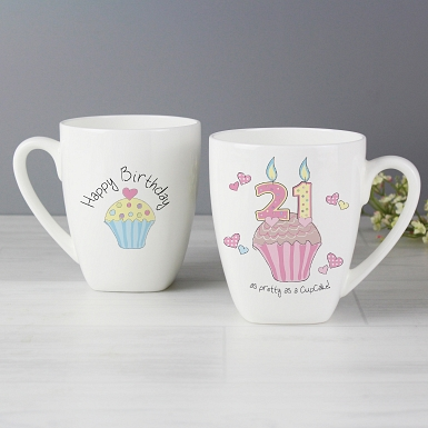 Cupcake 21st Birthday Latte Mug