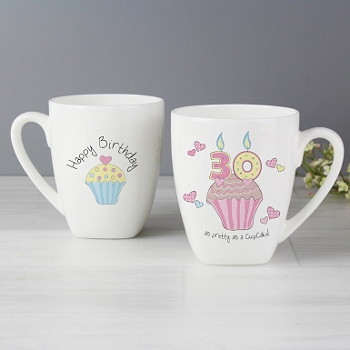 Cupcake 30th Birthday Latte Mug
