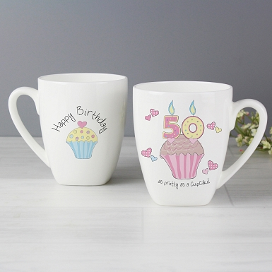Cupcake 50th Birthday Latte Mug