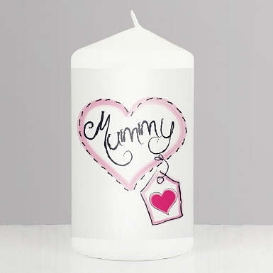 Mummy Heart Stitch Candle