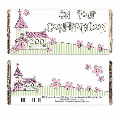 Pink On Your Confirmation Church Milk Chocolates Bar