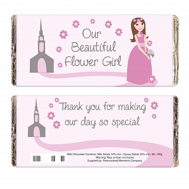 Fabulous Flower Girl Milk Chocolates Bar