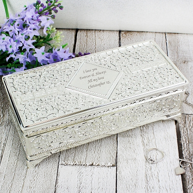 Antique Silver Plated Jewellery Box delivery to UK [United Kingdom]