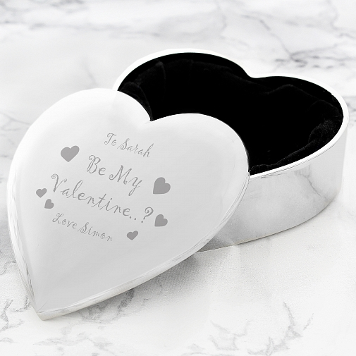 Be My Valentine Heart Trinket delivery to UK [United Kingdom]
