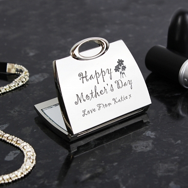 Personalised Happy Mother's Day Compact Mirror