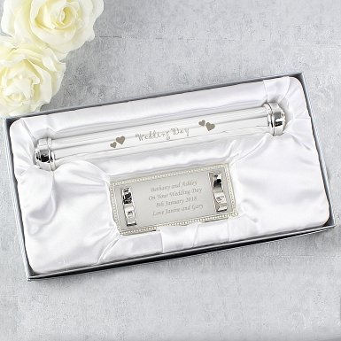 Personalised Wedding Day Certificate Holder