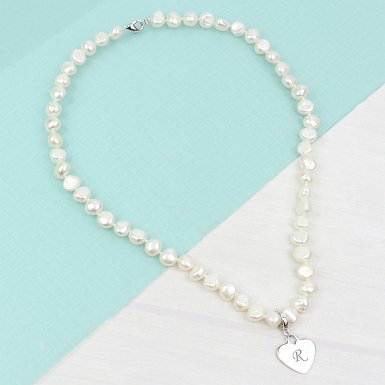 Freshwater Pearl Necklace White delivery to UK [United Kingdom]