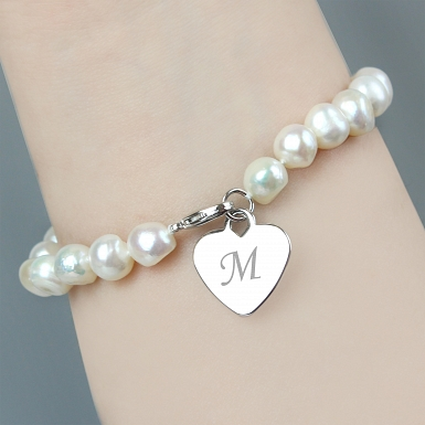 Freshwater Pearl White Bracelet delivery to UK [United Kingdom]