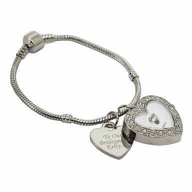 Personalised Watch Charm Bracelet 21cm UK [United Kingdom]
