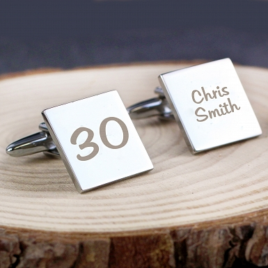 Personalised Big Age Cufflinks
